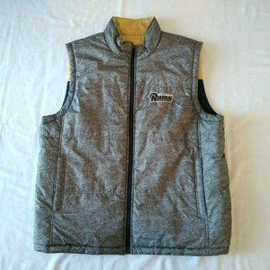 NFL St. Louis Rams Reversible Puffy Zippered Vest